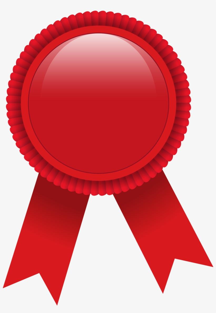Ribbon Award Red Clip Art.