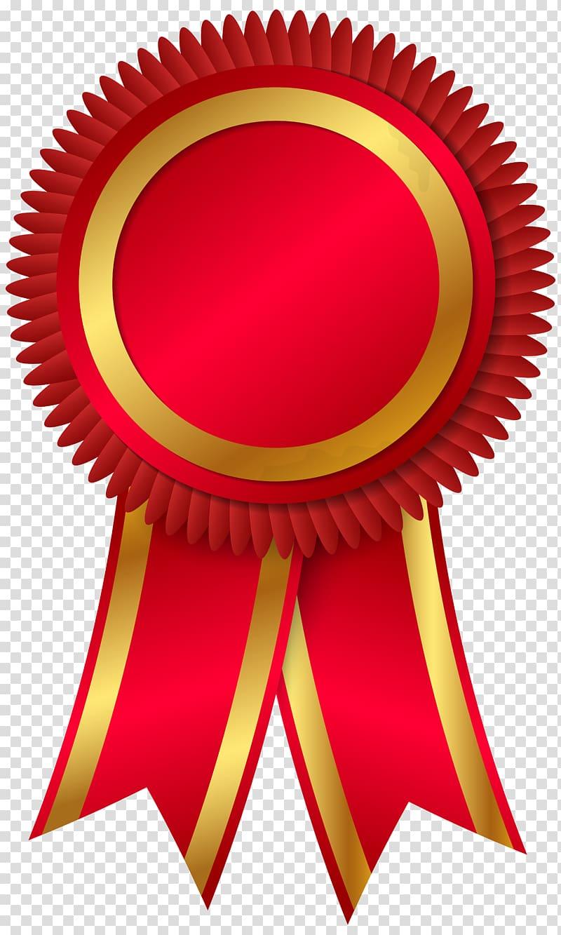 Red and brown ribbon illustration, Rosette Award Ribbon.