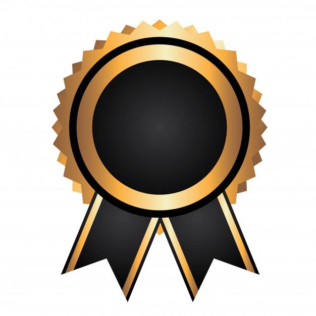 Award ribbon Vector.