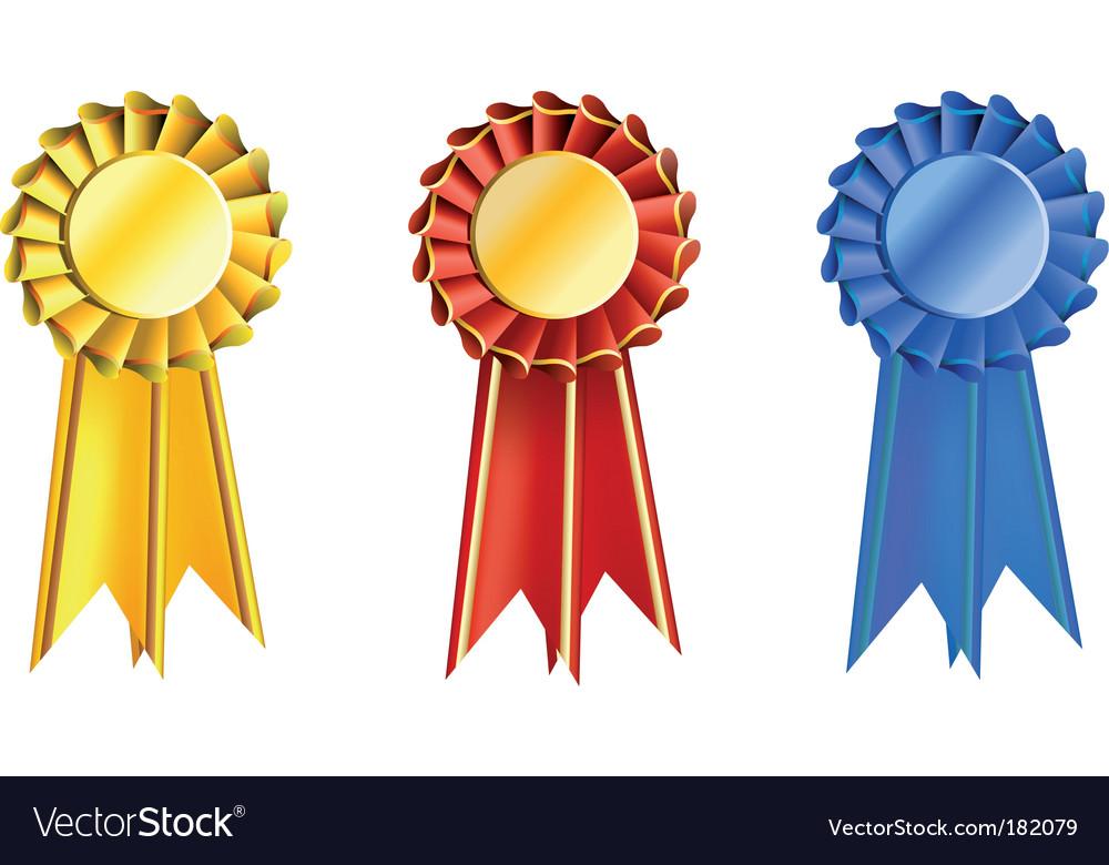 Set award ribbons.