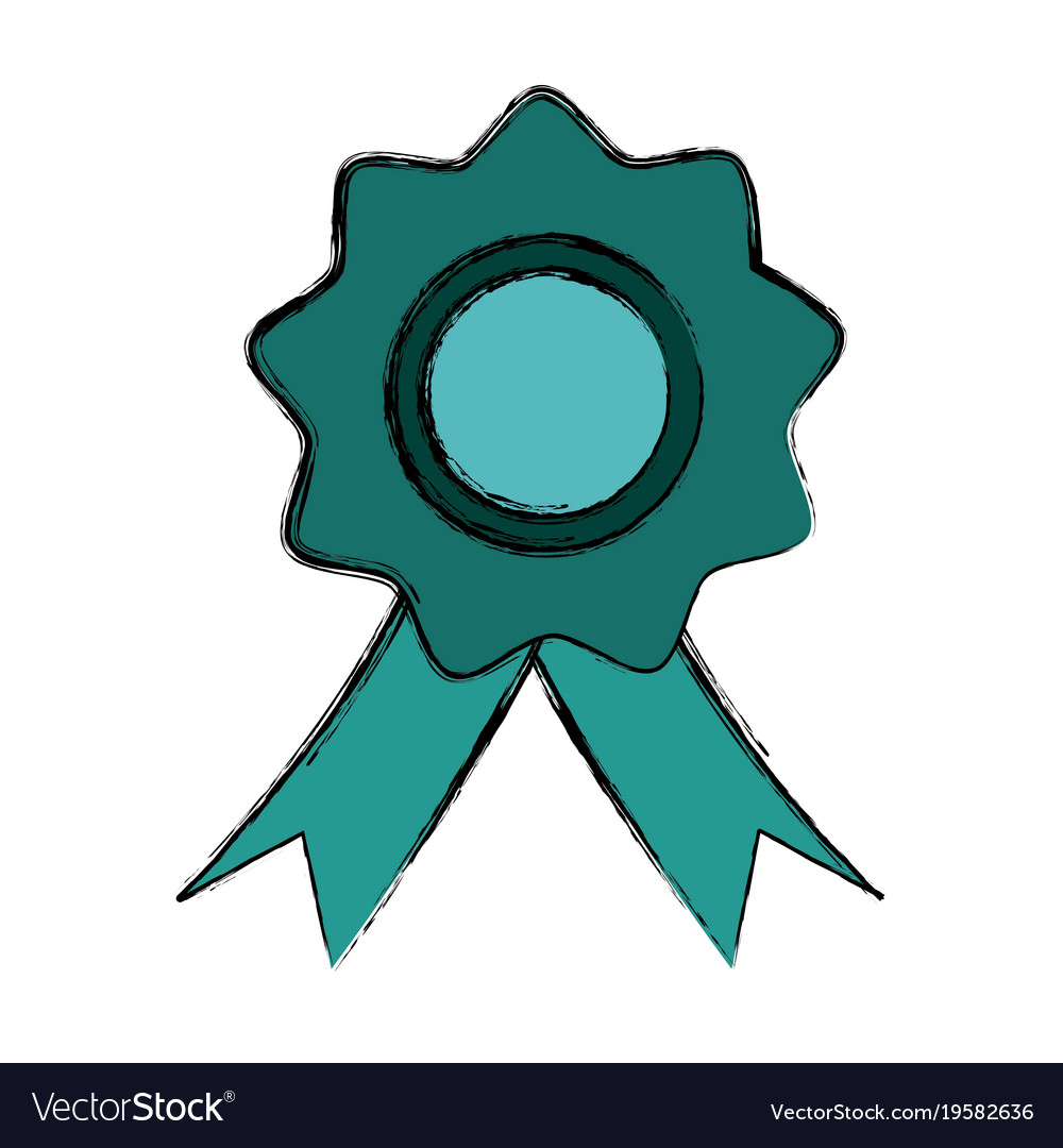Award ribbon symbol vector image on VectorStock.