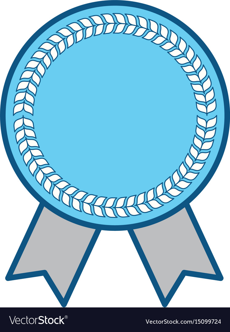 Blank award ribbon.