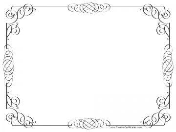 black and white certificate border.