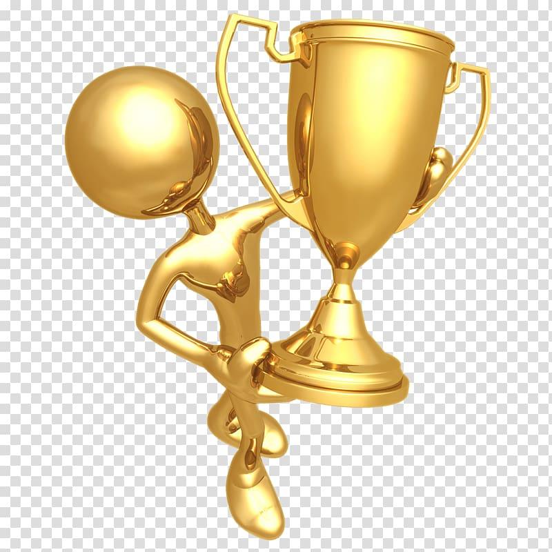 Award Medal Trophy Prize , golden cup transparent background PNG.