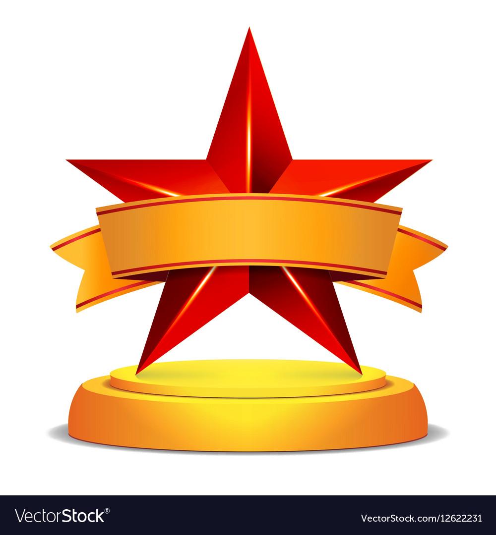 Gold Star Award Shiny Modern.