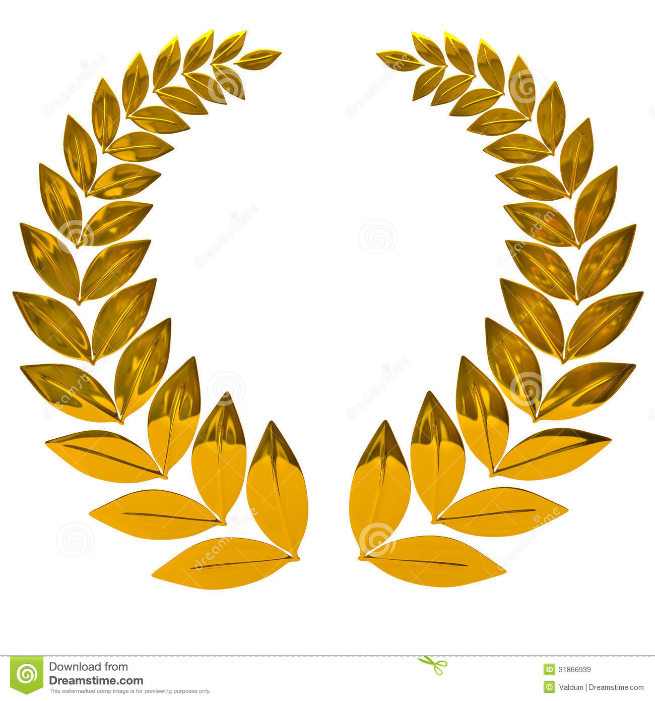Award wreath clipart yellow clipground for Laurel leaf crown template