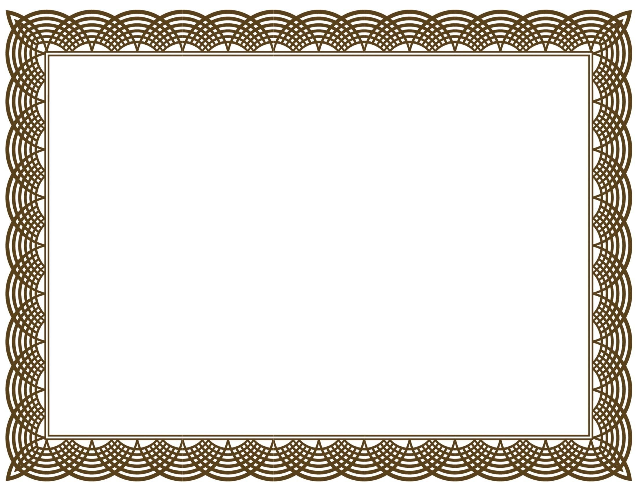 Award Certificate Border Pdf Template In Certificate Border.