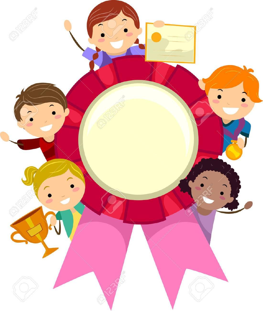 Stickman Illustration of Kids Holding Different Awards.