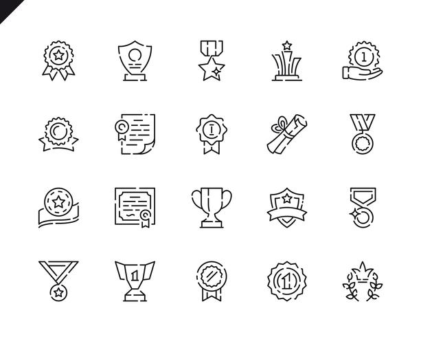 Simple Set Awards Line Icons.