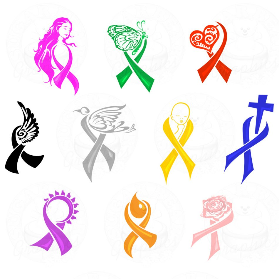 Cancer Awareness Ribbon Clip Art N2 free image.