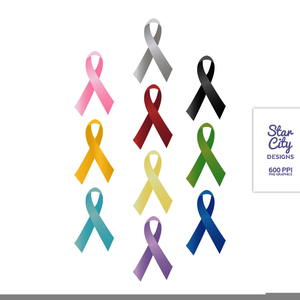 Cancer Awareness Ribbons Clipart.