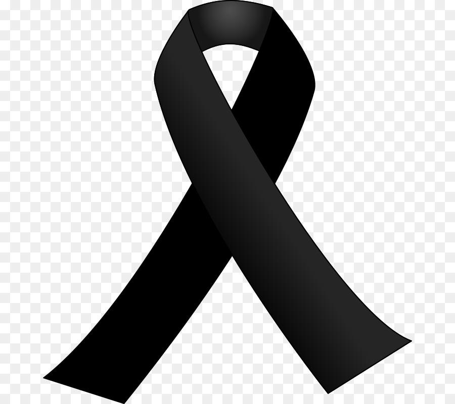 Black ribbon Awareness ribbon Clip art.