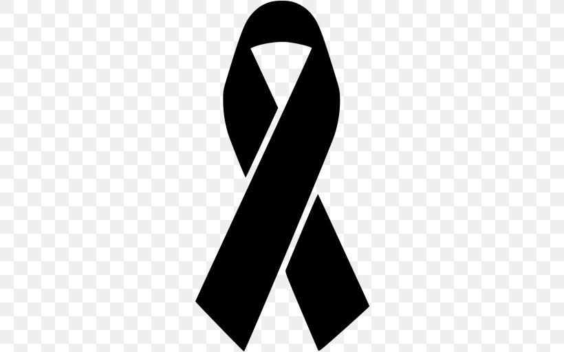 Black Ribbon Awareness Ribbon Clip Art, PNG, 512x512px.