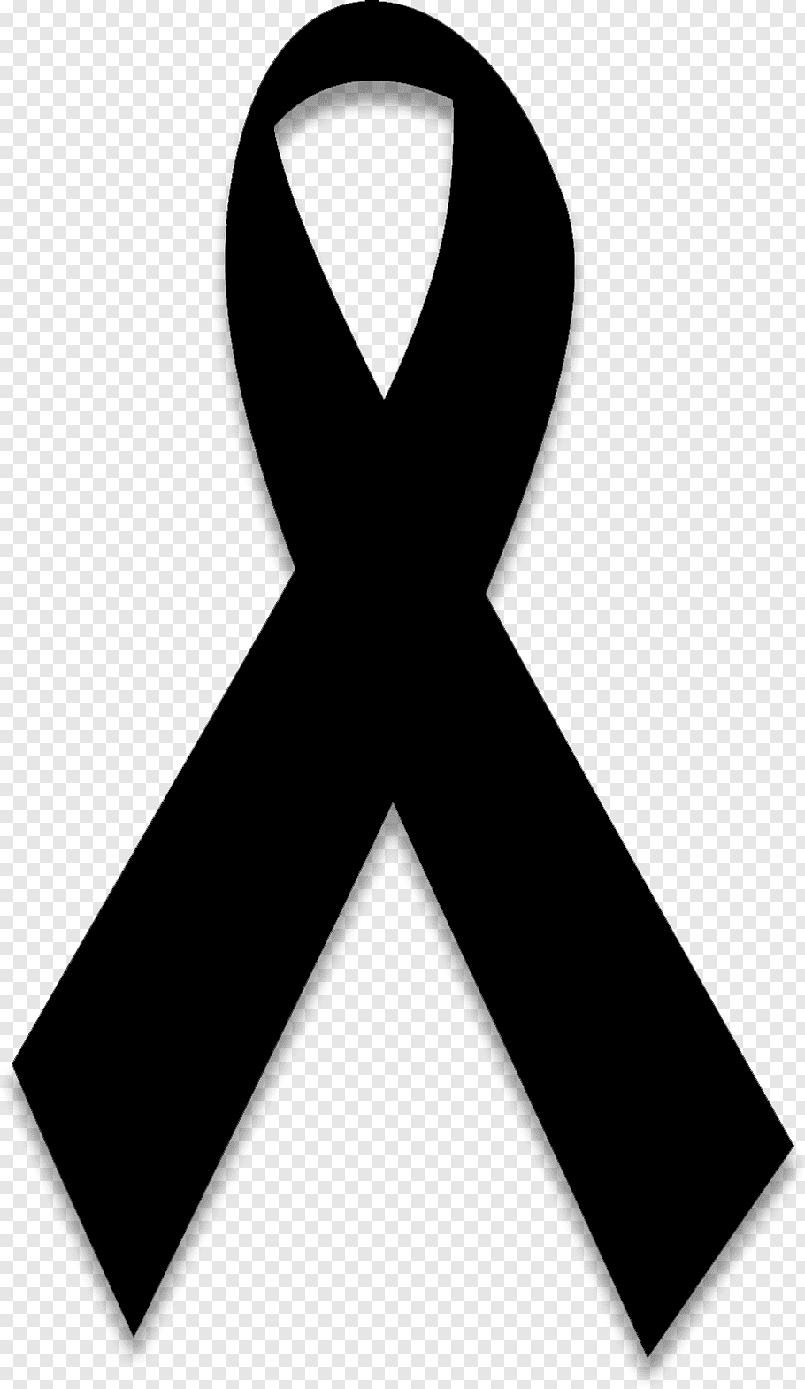 Black Background Ribbon, Symbol, Mourning, Black Ribbon.