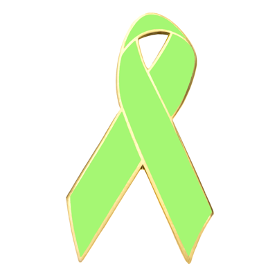 Mental Health Awareness Ribbon Lapel Pin.