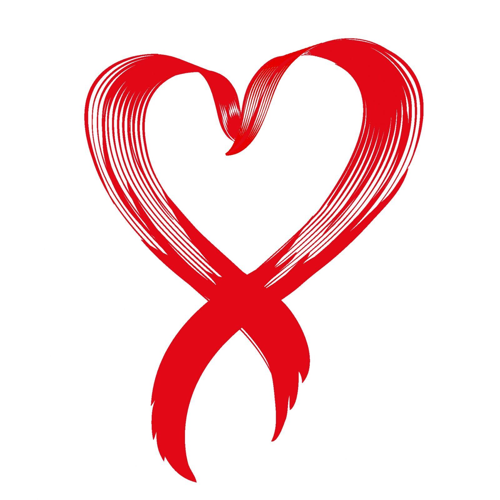 Love awareness ribbon vector.