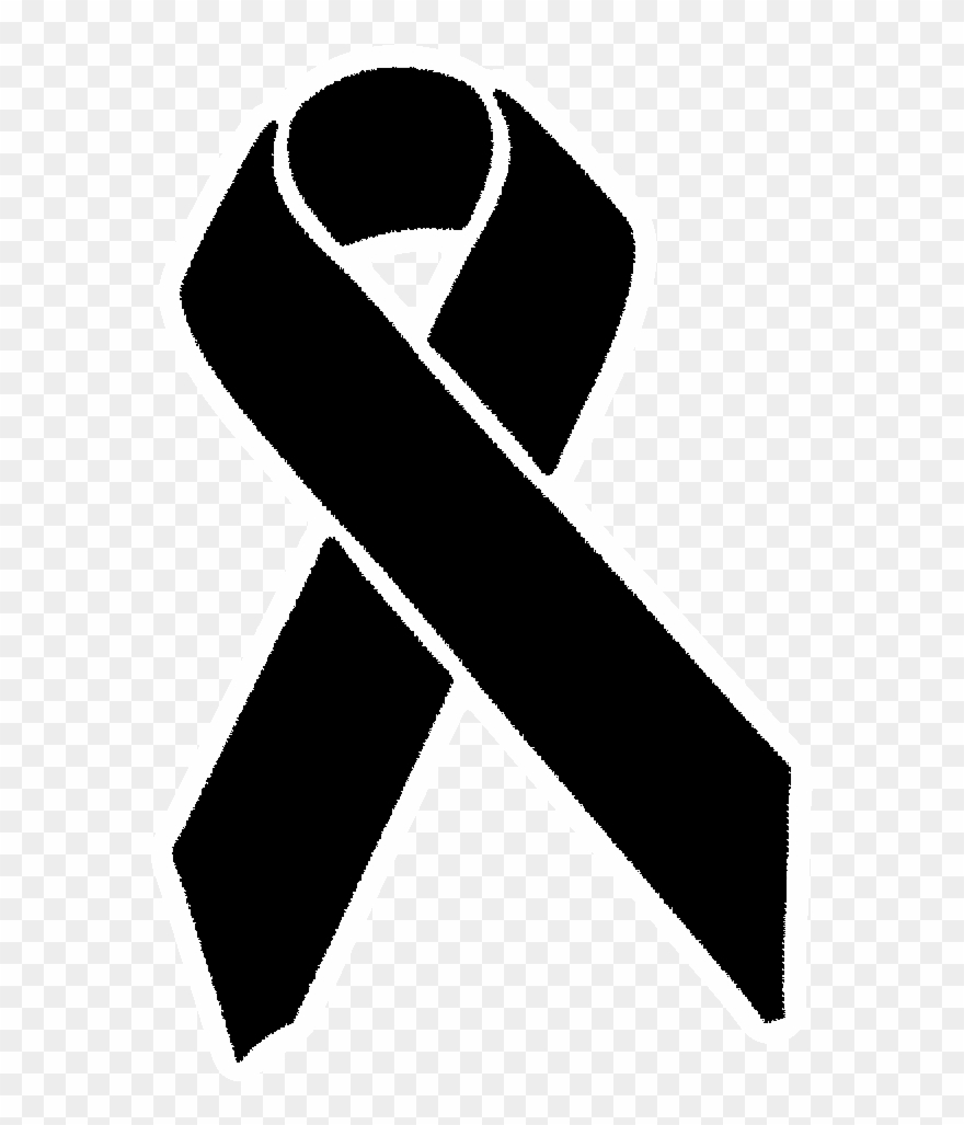 Black Awareness Ribbon Clipart (#3114298).