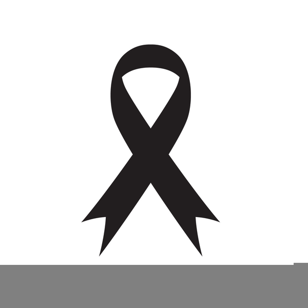 Black Awareness Ribbon Clipart.