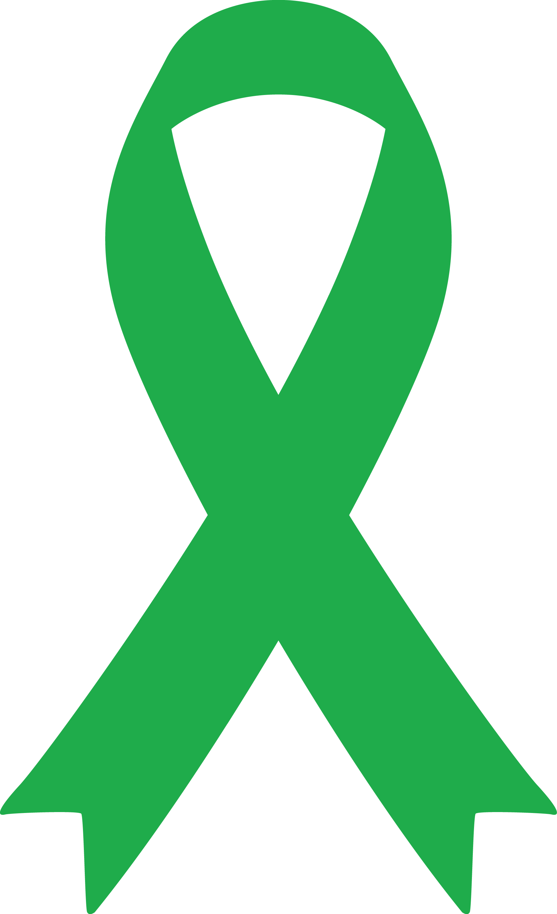 Mental Health Clipart Green Awareness Ribbon.