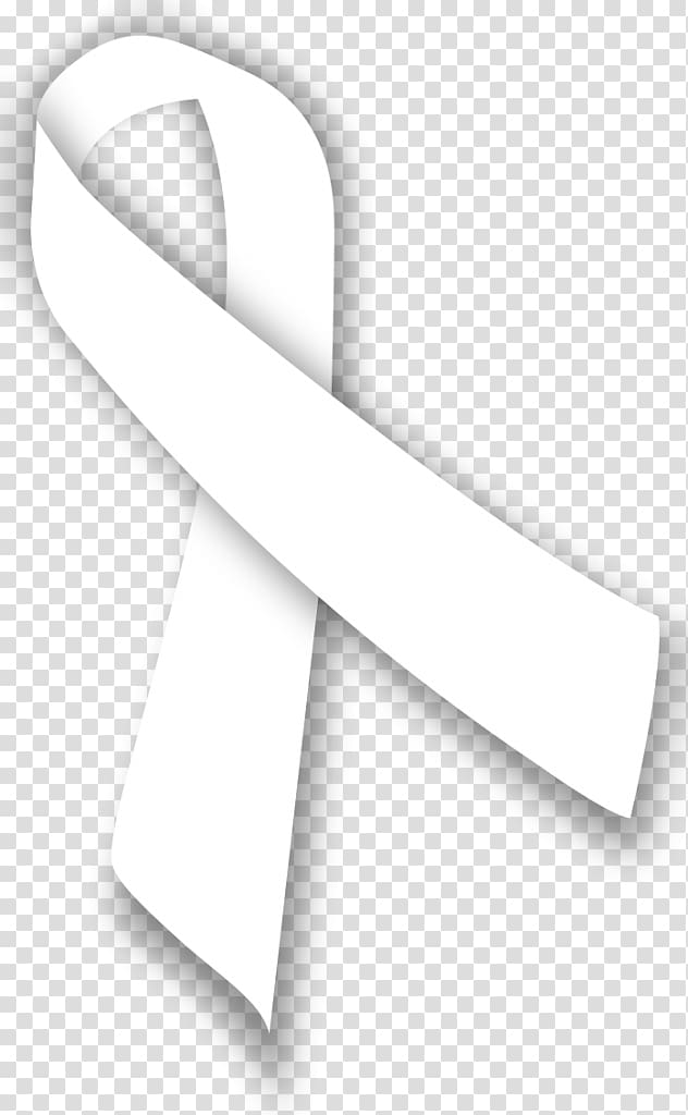 Awareness ribbon Lung cancer White ribbon, ribbon.