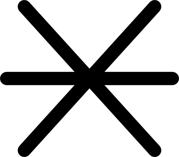 Rock Awash Maritime Symbol clip art Free vector in Open office.