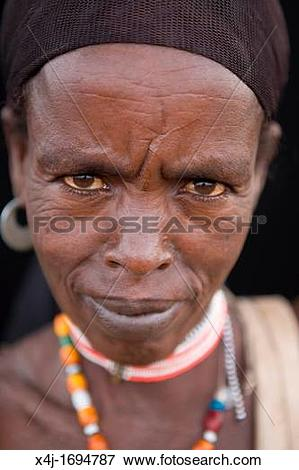 Picture of Portrait of a villager in Awash, Afar region in.