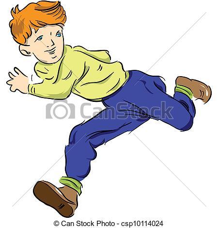 Kids running away clipart.