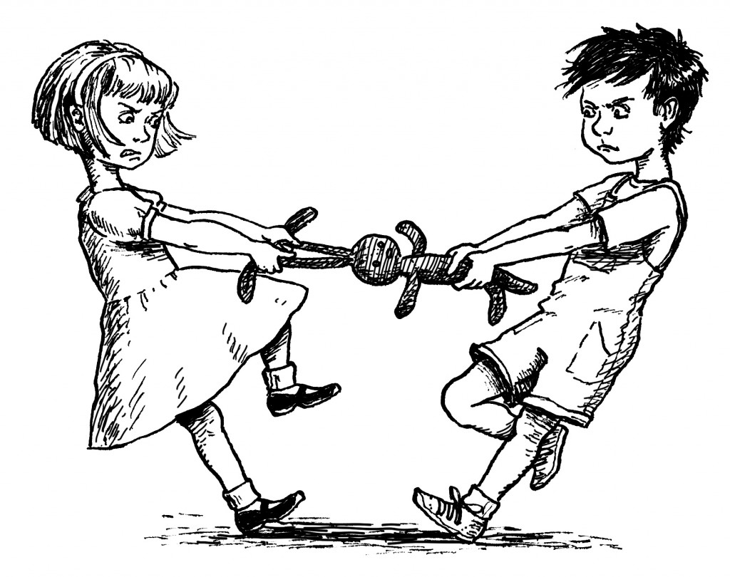 Children Showing Respect To Others Clipart Black And White.