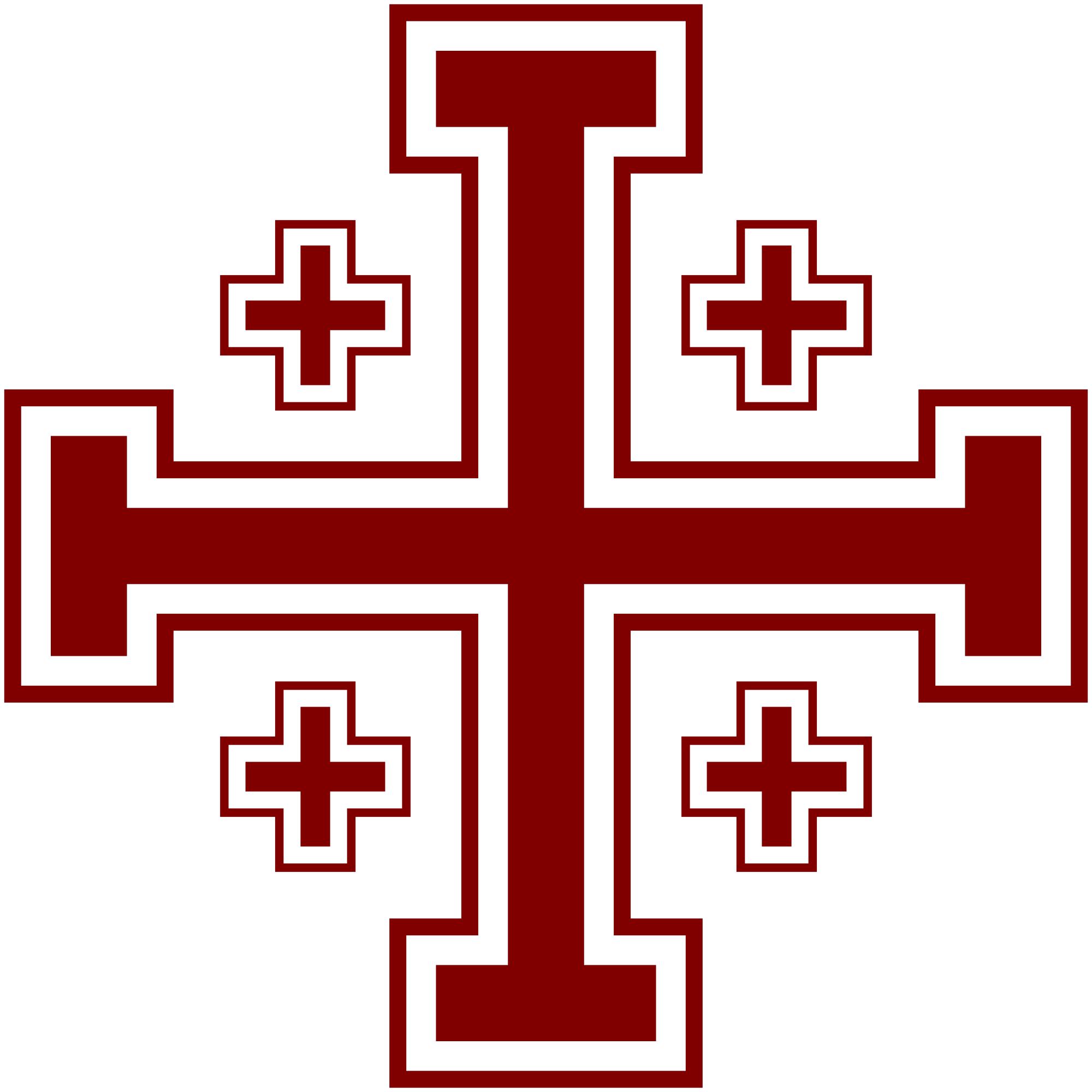 Jerusalem cross clipart.