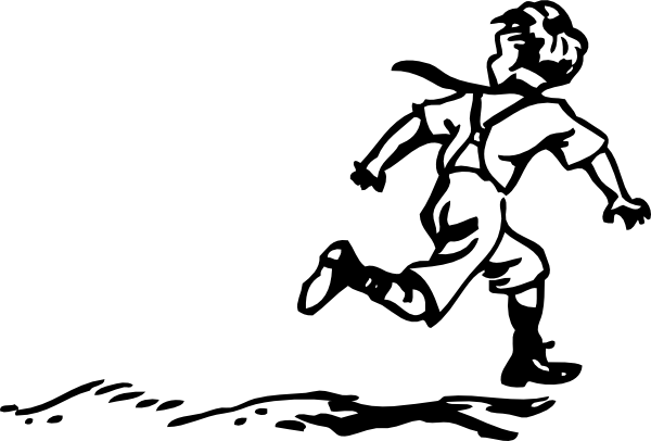 People Running Away Clipart.