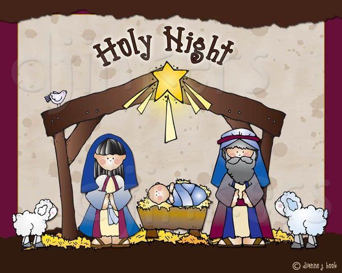 cute nativity, Christmas clip art, Christian clip art.