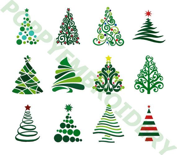CHRISTMAS tree Designs for Embroidery machine / noel motifs.