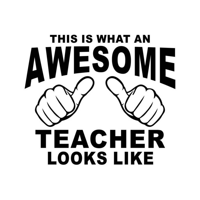 This is what an Awesome Teacher looks like Graphics SVG Dxf EPS Png Cdr Ai  Pdf Vector Art Clipart instant download Digital Cut Print File.