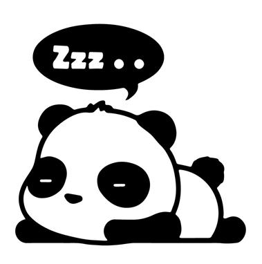 Sleepy Panda Clipart.