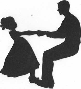 Father and daughter dancing silhouette.
