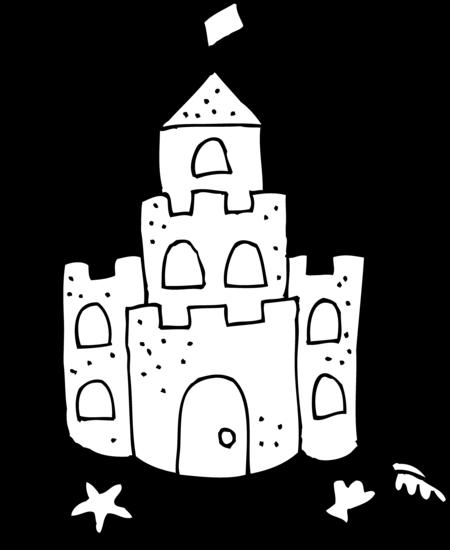 Cute Sand Castle Clipart.