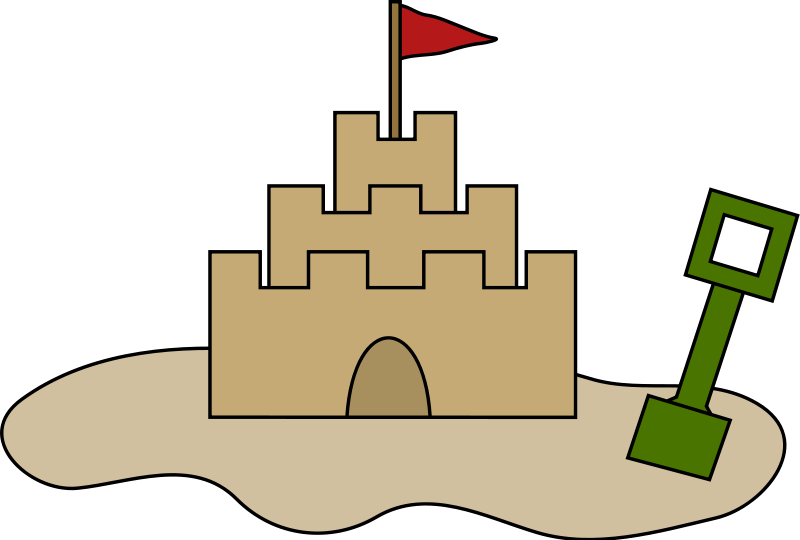Transparent castle clipart picture.