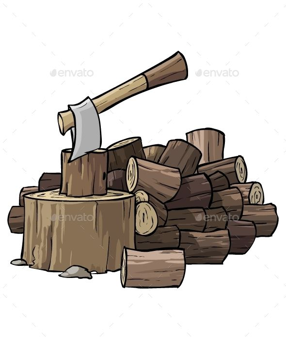 Download Free Graphicriver Pile of Woods #ax #cartoon #fire.