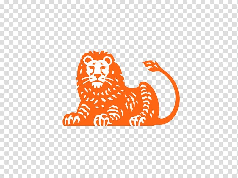 ING Group Bank Logo AXA Business, lion head transparent.