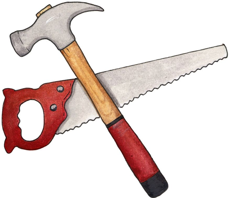 hammer and saw #clipart #patterns #colored #paintpatterns.