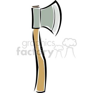 wood axe clipart. Royalty.