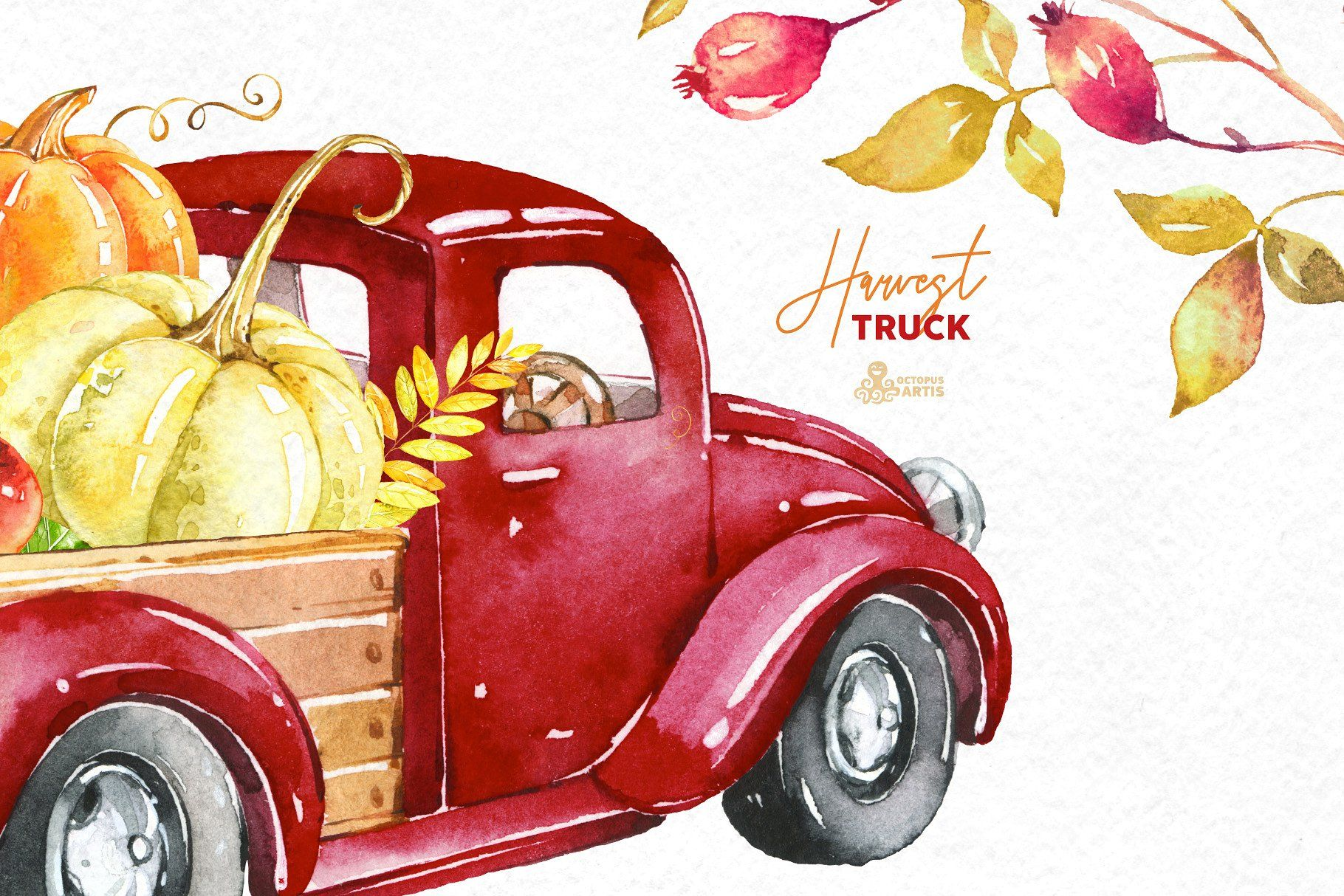 Harvest Truck. Fall Collection. #software#graphic#work#MS.