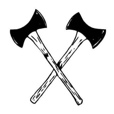 Crossed axes clipart.