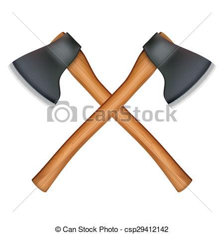 EPS Vector of lumberjack axe.