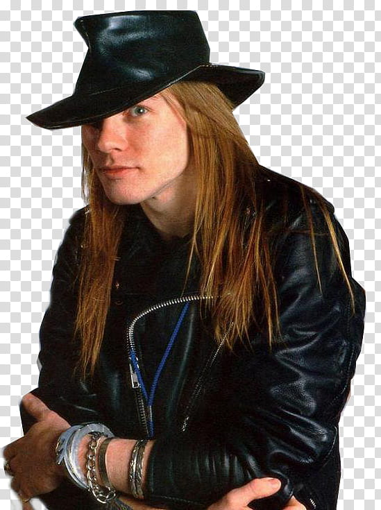 Axl Rose transparent background PNG clipart.