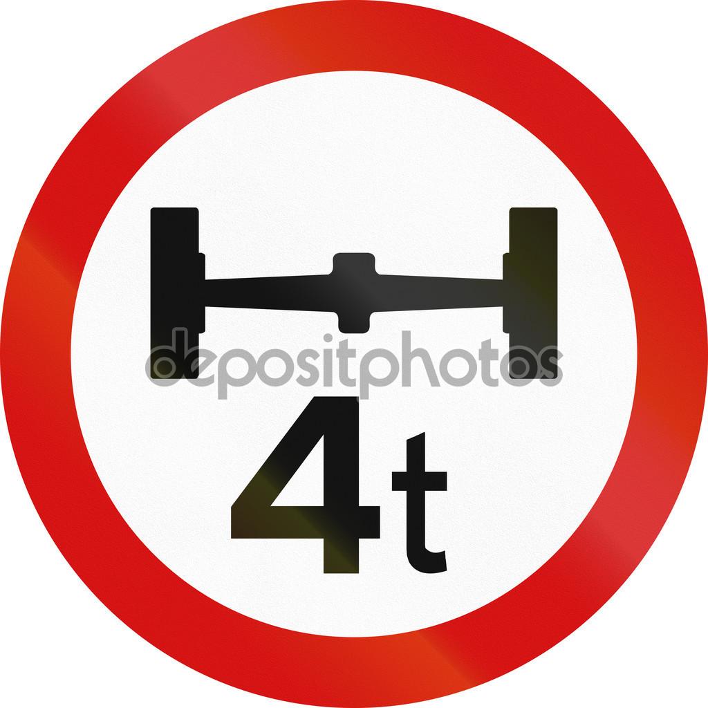 Axle Load Limit in Ireland — Stock Photo © jojoo64 #106850420.
