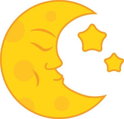 Moon Month Vector premium clipart.