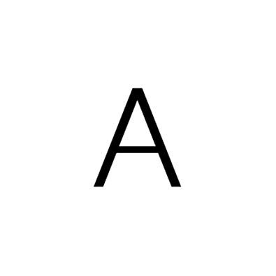 HUANGPA New Letter RinInitial Alphabet A to Z Silver Color.