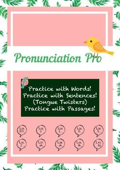 Pronunciation Practice & Tongue Twisters for ESL Learners.
