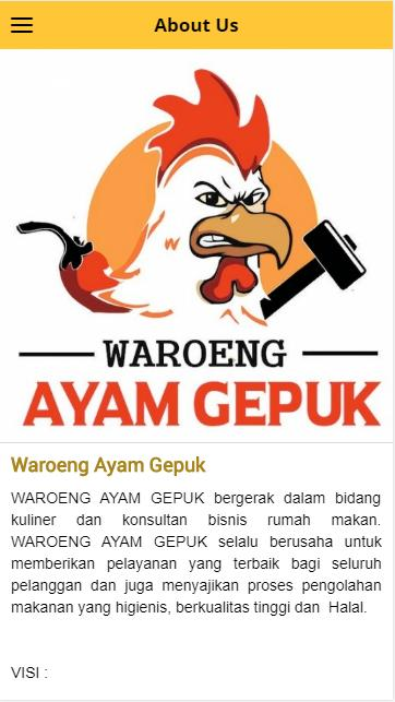 Waroeng Ayam Gepuk for Android.